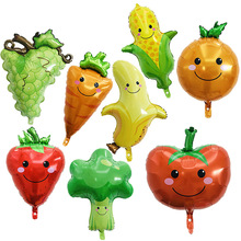 6 Pcs / Many Fruits And Vegetables Balloons Childrens Day Christmas Cute Wedding Party Celebration Decoration