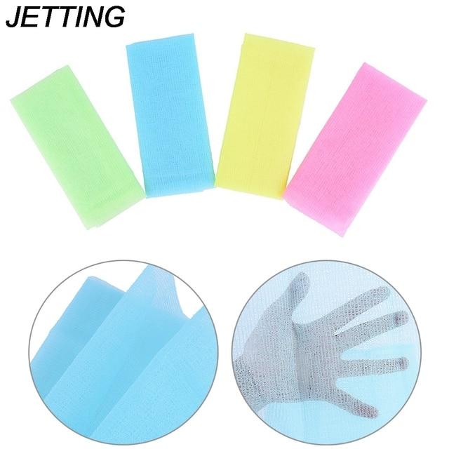 Hot 1pcs Nylon Japanese Exfoliating Skin Bath Shower Wash Cloth Towel Back Scrub Body Cleaning Washing Sponges & Scrubber 2