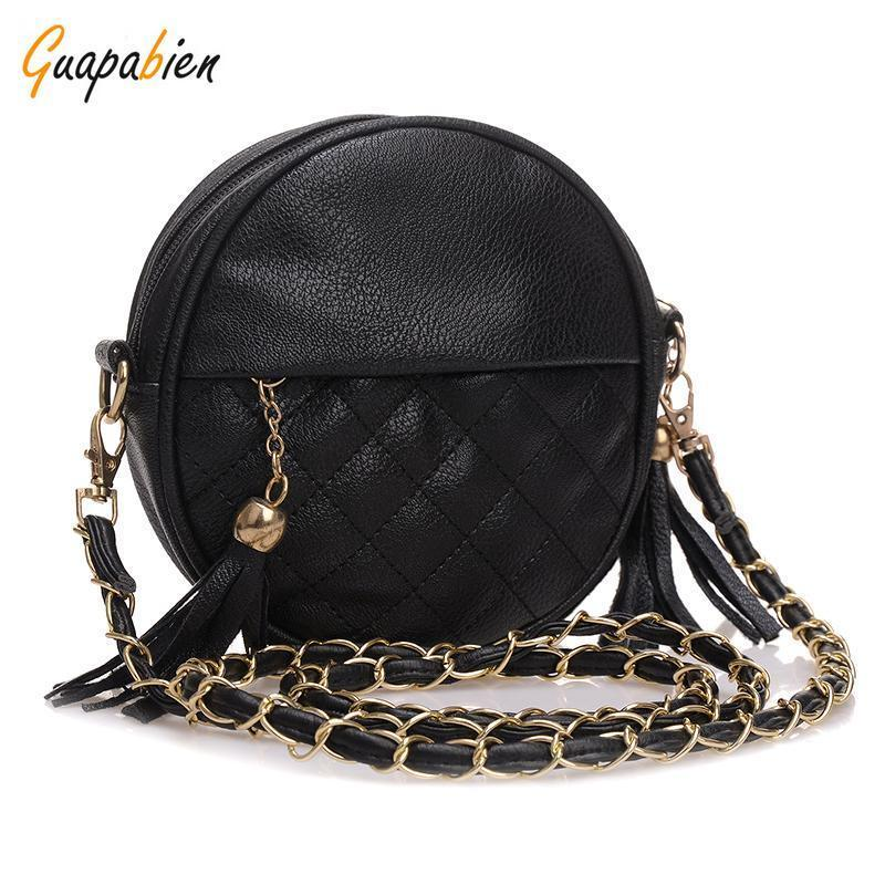 6 Candy Colors small women bags round plaid girls messenger bag brand leather crossbody bags tassel chain lady handbags lacattura small bag women messenger bags split leather handbag lady tassels chain shoulder bag crossbody for girls summer colors