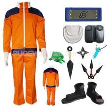Hot Naruto Uzumaki Naruto Cosplay Costume Halloween Costume Full Set 7/lot hot naruto sai cosplay costume halloween costume full set