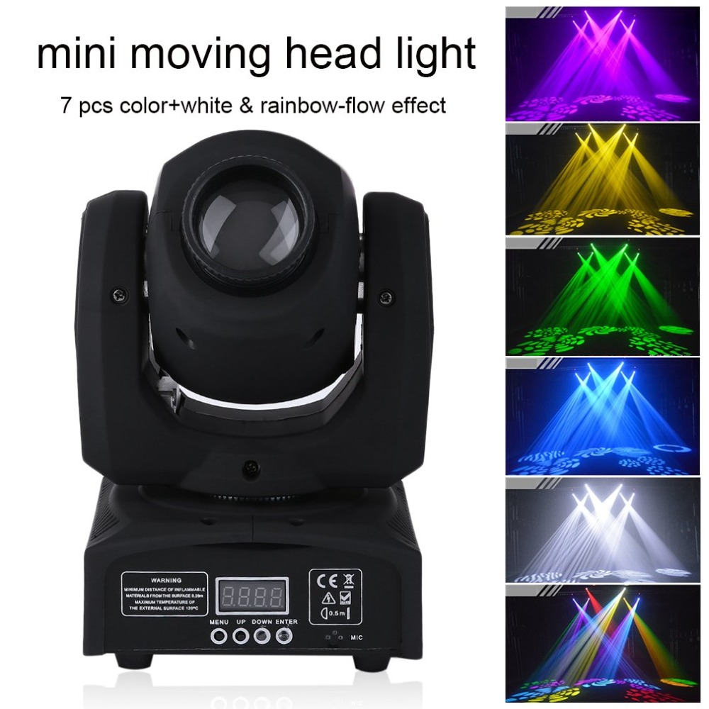 Mini RGB Stage Moving Light LED Licht DJ Party Projector Lamp Holiday Party Landscape Light Garden Lamp Outdoor LightingDazzlin niugul dmx stage light mini 10w led spot moving head light led patterns lamp dj disco lighting 10w led gobo lights chandelier