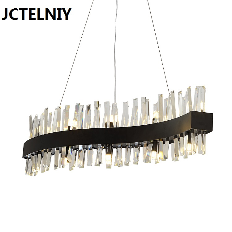 Custom style lamparas crystal glass rod led pendant light new classic brief lamps L1000mm