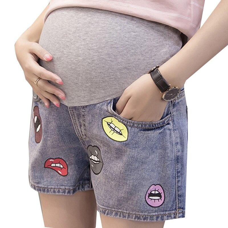 Para EmbarazadasRopa 2017 De Verano Vestido Cortos Pantalones Impresión Denim Mujeres Las qVMUzSpG