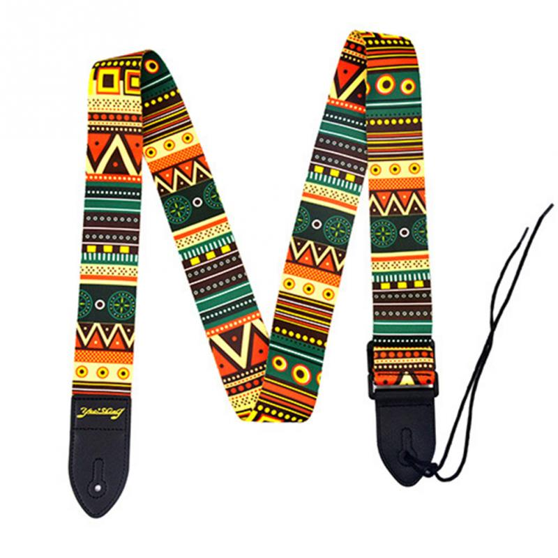 Image 5 - Alto Folk Printing Guitar Straps Thickened Folk Wooden Electric Guitar Bass Straps-in Guitar Parts & Accessories from Sports & Entertainment