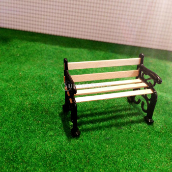 1/24 Scale Dollhouse Miniature Garden Patio Furniture Park Bench Dollhouse Living Room Decor Chair Classic Toy Gift Dolls Access image