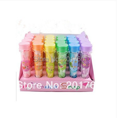 Soap-Paper Test-Tube Handmade Portable Travel Colorful Party-Favor Washing-Cleaning 24pcs/Bag