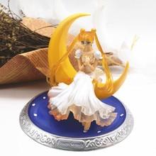 Новинка 13 см аниме супер моряк лунные куклы Tsukino Усаги ПВХ фигурка крылья украшение торта Коллекция Модель игрушки куклы Подарки