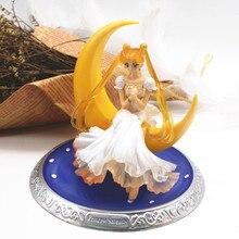 Nieuwe 13cm anime Super Sailor Moon poppen Tsukino Usagi PVC Action Figure Vleugels Cake Decoratie Collectie Model Speelgoed Pop geschenken