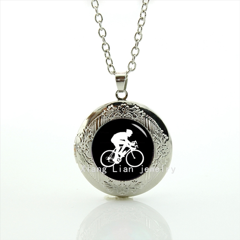 2017 Collares Collier The High Quality Oddly Shaped Picture Accessory Cycling Pendant Necklace Sport Bicycle Wedding Groom T353