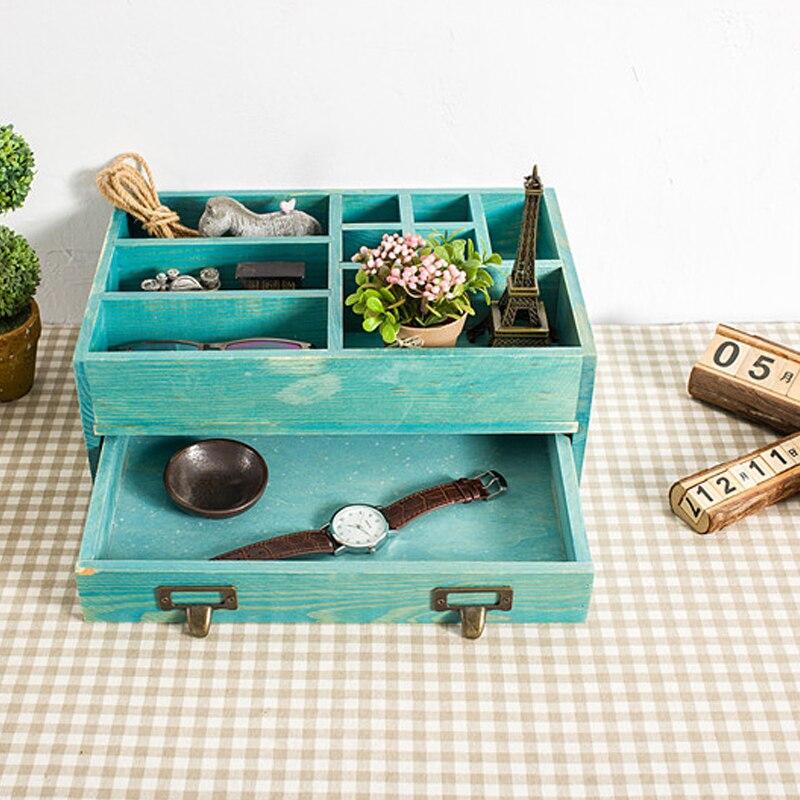 Boîte de rangement en bois livre cosmétique bijoux organisateur papeterie boîtes de rangement porte-livres