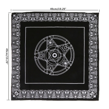 49x49cm Pentacle Tarot Tablecloth Astrology Divination Playing Cards Board Game