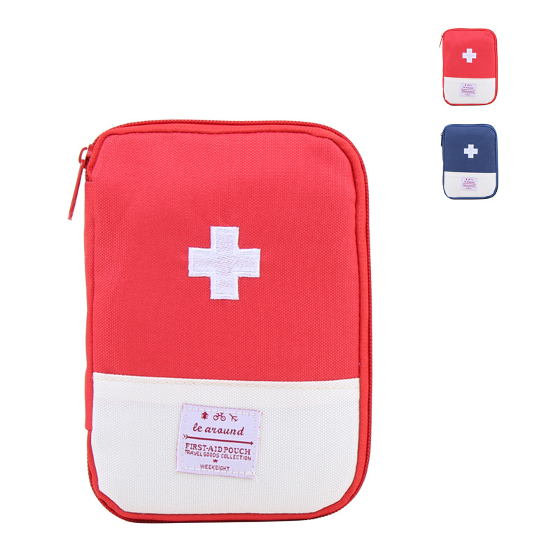1pcs 13*18cm Organizer Blue/Red Domestic Portable Emergency Package Travel Storage Bags Pouch Bag Home Supplies