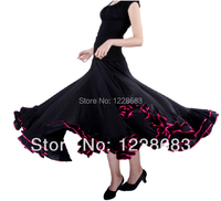 Women Lady Ballroom Modern Stage Wear Clothes Dress Flamenco Skirt Flamenco Dance Costume