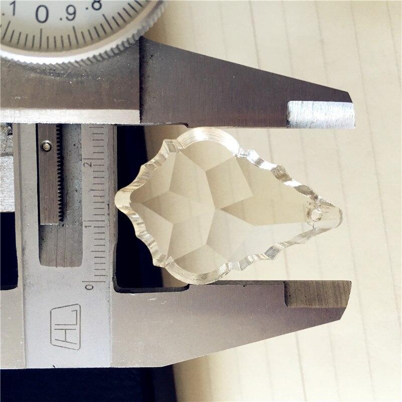 Cognac 200pcs/Lot 38*22mm Crystal Chandelier Pendants Glass Prism Parts For Hanging Glass Decoration Wedding & Home Decoration