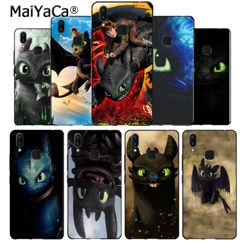 MaiYaCa Toothless Train Your Dragon black soft Phone Accessories Case