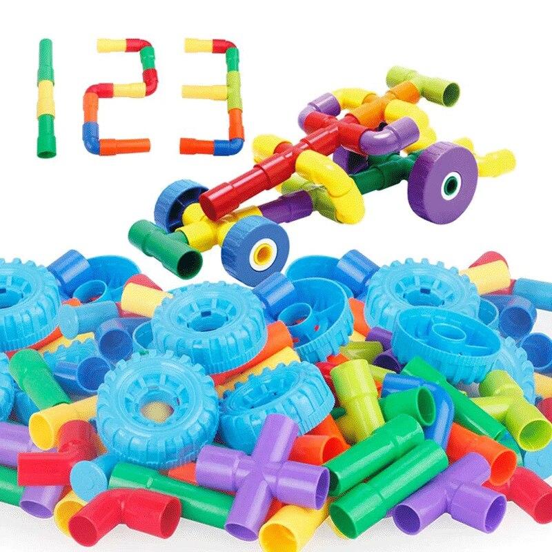 2018 Bunte Pädagogische Wasserleitung Bausteine Spielzeug Für Kinder Diy Montage Pipeline Tunnel Block Modell Spielzeug Für Kinder In Den Spezifikationen VervollstäNdigen