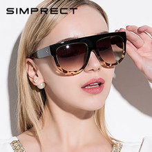Simprect квадратные негабаритные Солнцезащитные очки женские