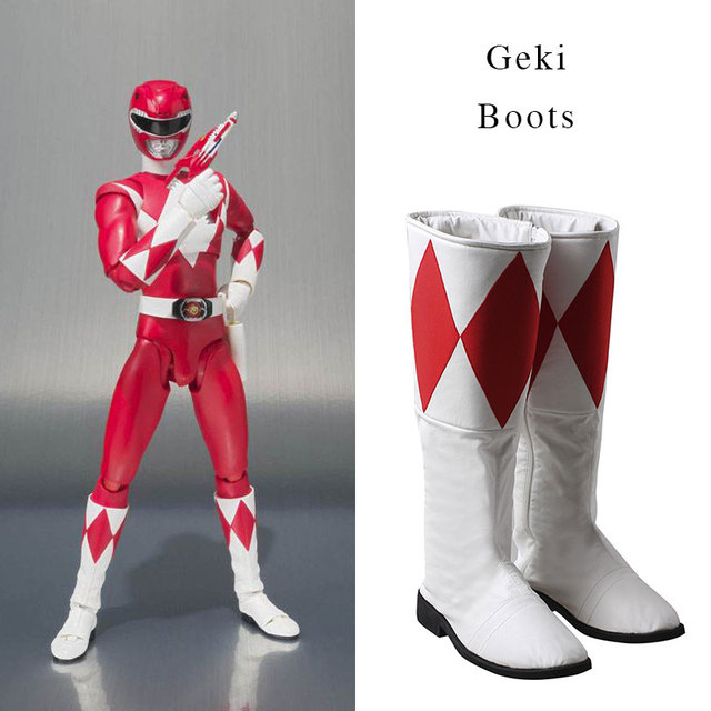 3366 59 руб  |Cosplay Boot Shoes High Boots Cosplay For Zyuranger Tyranno  Ranger Geki Unisex Halloween Superhero Props Accessories Cosplay купить на