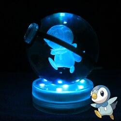 3D Pokemon Go Crystal Ball Figurines Poke Ball Miniatures Birthday Anniversary Gifts