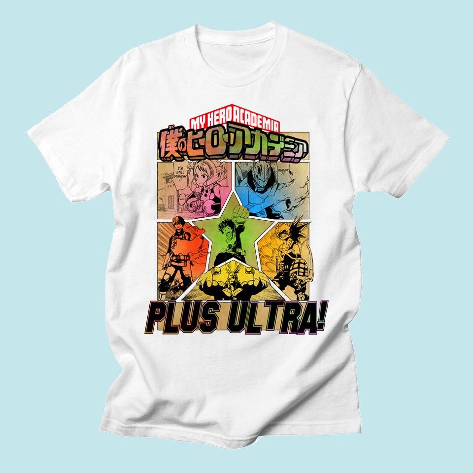 My Hero Academia Tshirt Men Funny Print Anime Brand Fashion Streetwear Tops Summer Style Harajuku Casual Hip Hop Tee Shirt Homme
