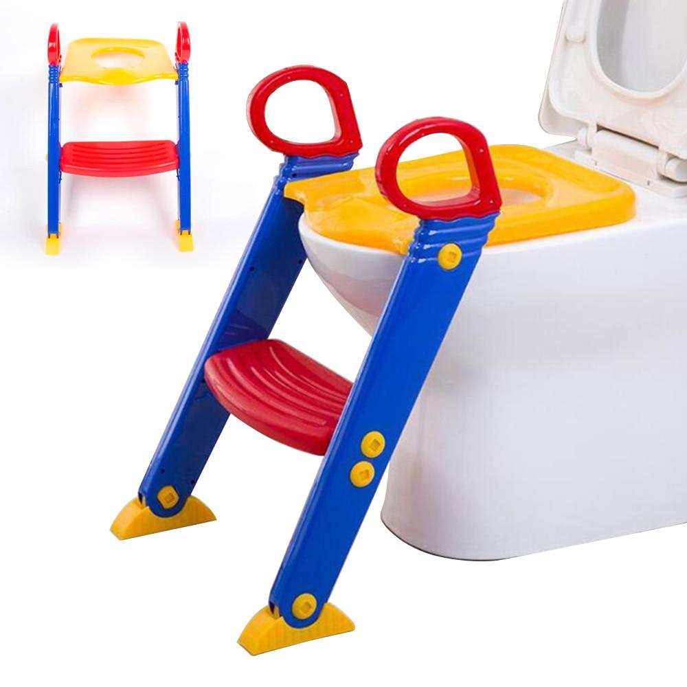 Baby Pot Wc Trainer Voor Baby Peuter Veiligheid Seat Verstelbare Ladder Zuigeling Wc Training Antislip Stoel Klapstoel Potje Exquisite Traditional Embroidery Art