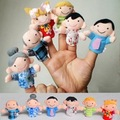 6pcs/lot Family Finger Puppets Plush Cloth Children Finger Hand Puppe Toys Glove Puppets