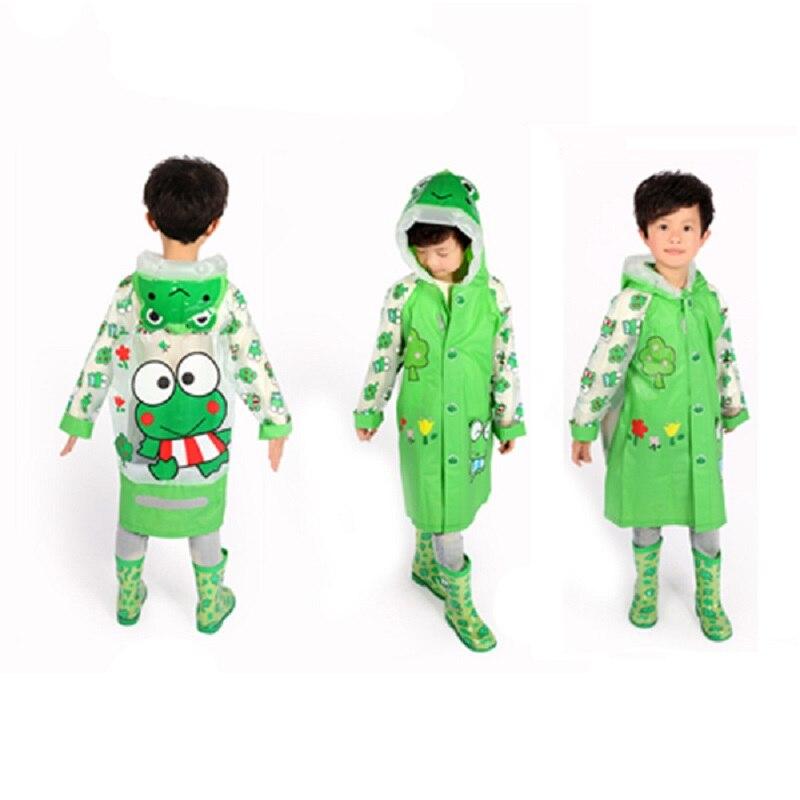 Kids Cute Animal Style Children Raincoat Boy Girl Rainwear Hooded Waterproof Rainsuit Cover Cartoon Student Baby Rain Coat