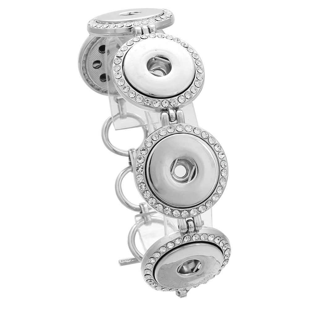 הכי חדש הצמד כפתור צמיד & צמידי 5 כפתור ריינסטון עיצוב הצמד כפתור סגסוגת קסם הצמד צמידי 18mm הצמד כפתור תכשיטים