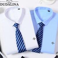 Dudalina New Classic Bamboo Fiber Men Dress Shirt Solid Color Man's Social Shirts Regular Fit Male Reserva Aramy Aleatory