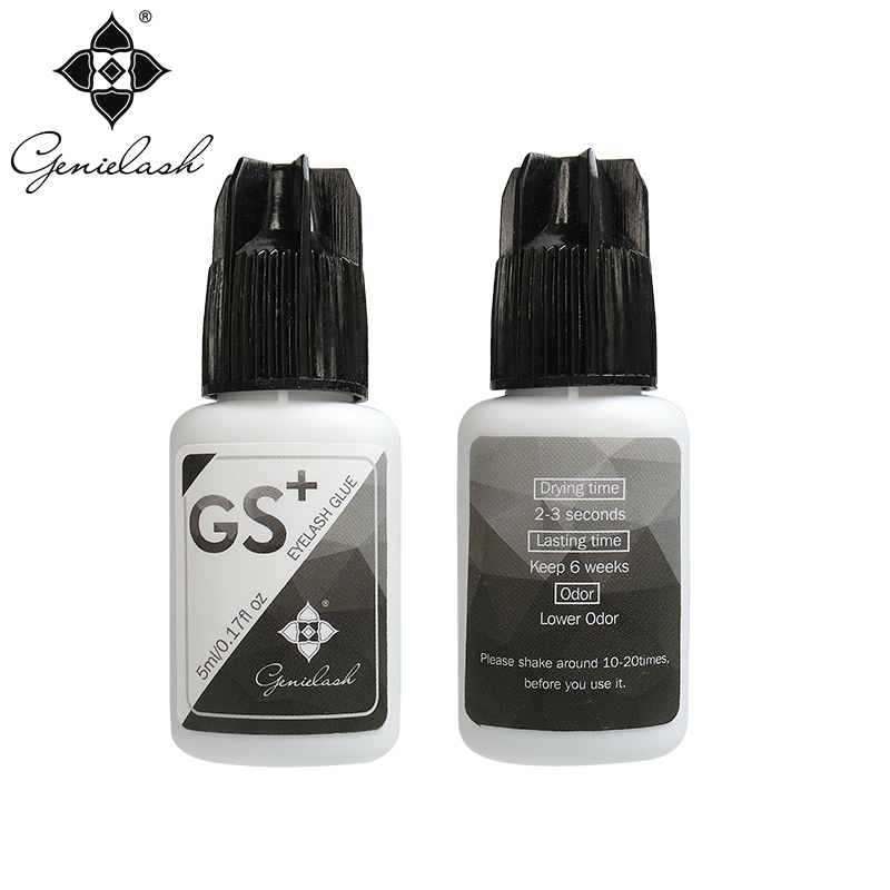 Genielash GS+ Glue for Eyelashes Extension 2-3 sec dry low irritation for low temperature Individual eyelash extension glue 1pc glue pot 100g italian keratin glue keratin glue bead hot pot glue stove temperature control hair extension styling tools