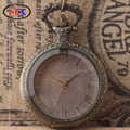 The classic retro ancient circular pattern shell white glass retro large quartz pocket watch watch in ancient Egypt