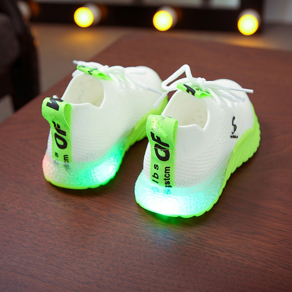 LED Breathable Knitted Sneakers 2