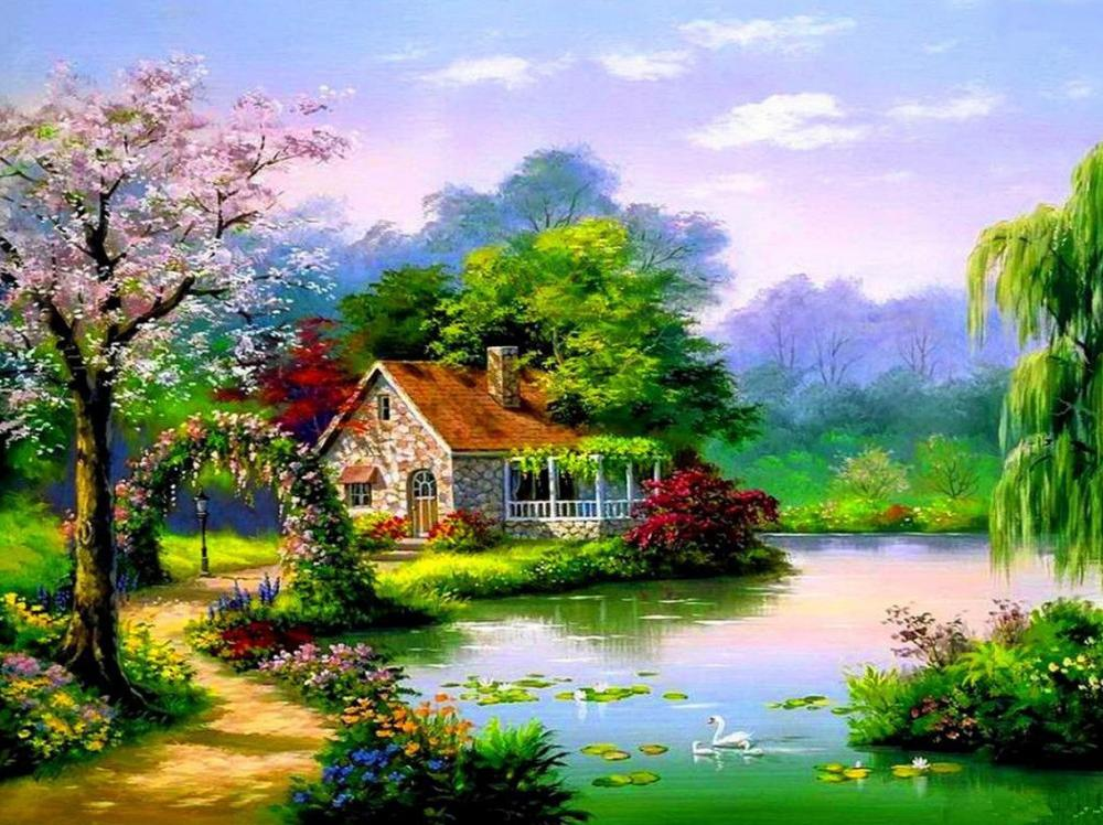 Картинки с домами весной