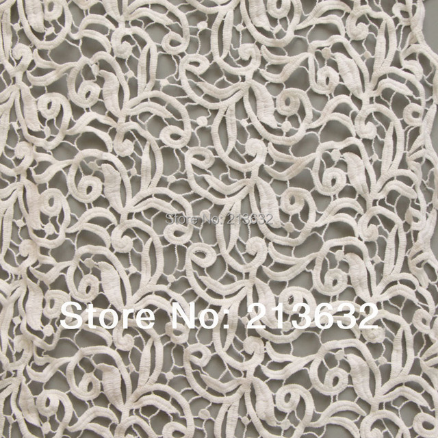 D po11 High-grade hollow out water soluble embroidered cloth Computer embroidery lace fabrics factory order embroidery lace