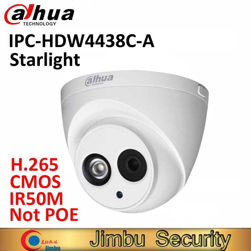 Dahua 4MP starlight caméra dôme IPC-HDW4436C-A IP IR50M H.265 Full HD Construit-dans-MICRO CCTV caméra de sécurité de réseau pas POE COMS