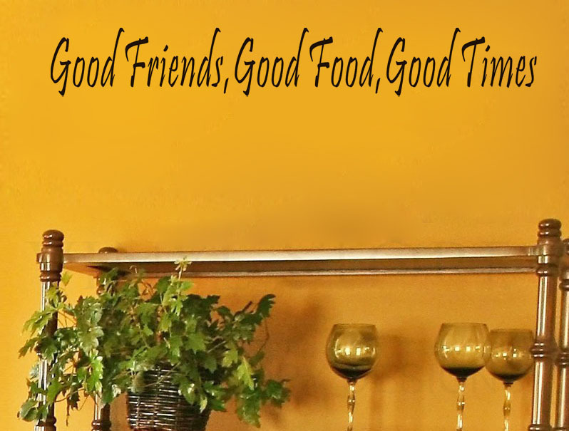 Free Shippingcacar Diy Wall Sticker Good Food Good Friends Wall