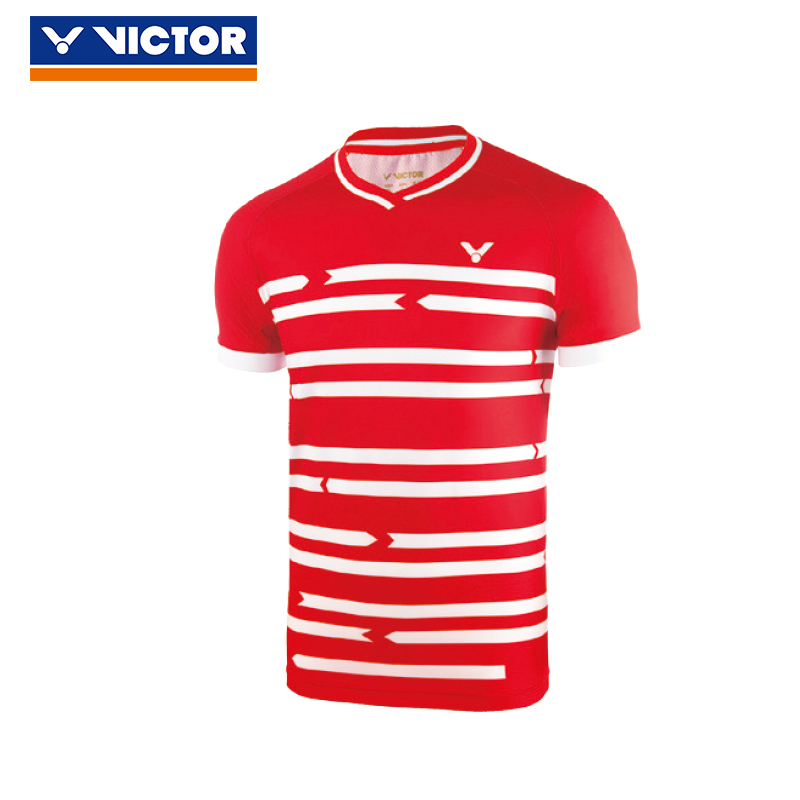 premium selection e7078 ba66c Original Victor Badminton clothes Denmark national team competition T80036  breathable competition shirt fast dry T-shirt skirt