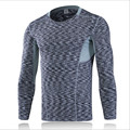 6029 Mens Boy Compression Body Building Base Layer Thermal Under Top Long Sleeve Male Shirt Skins Size M-XXXL Free Shipping