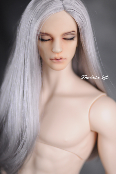 1/3 8-9 BJD Wig Super Doll Wig Fashion Sliver Grey Long Mohair Wig For BJD Doll Hair Free Shipping 8 9 bjd wig silver knights of england volume mohair wig spot