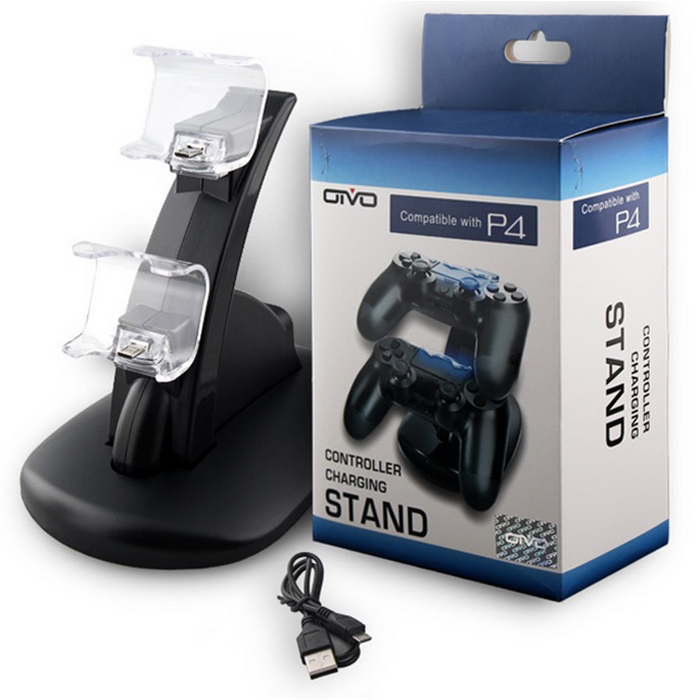 Dual port charger for PS 4 USB Charge Dock Station Stand for Play station 4 Game Controller Charging Stand