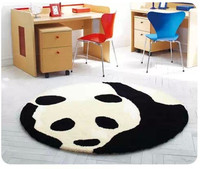 The lovely children's room carpet round black and white panda bedroom living room table basket creative bedside blanket rug mat