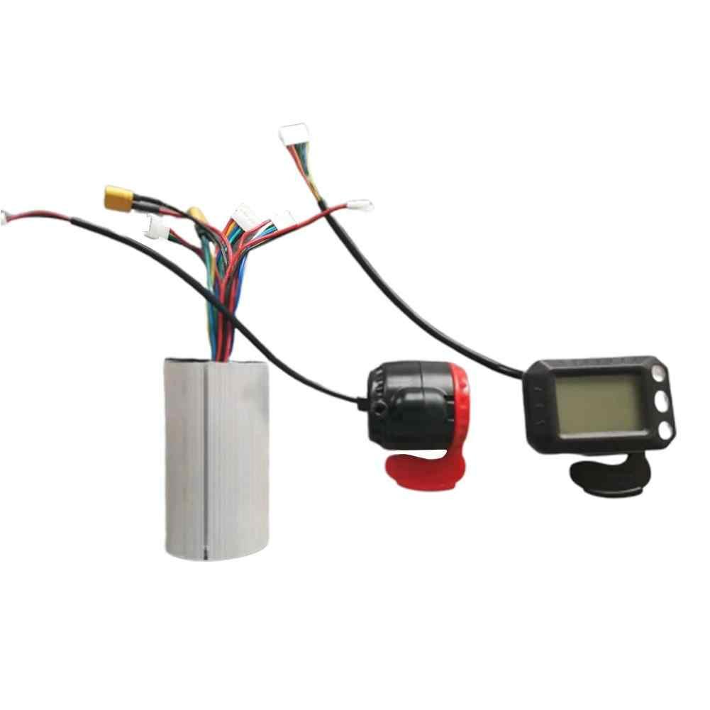 3 個の Led 表示器アクセル電子ブレーキマザーボードコントローラ 5.5 インチ電動スケートボードアクセサリーセット