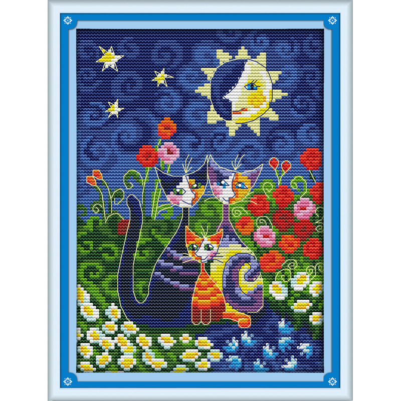 Everlasting love Christmas Cats under the sun Ecological cotton Chinese cross stitch kits counted stamped 11 new sales promotion