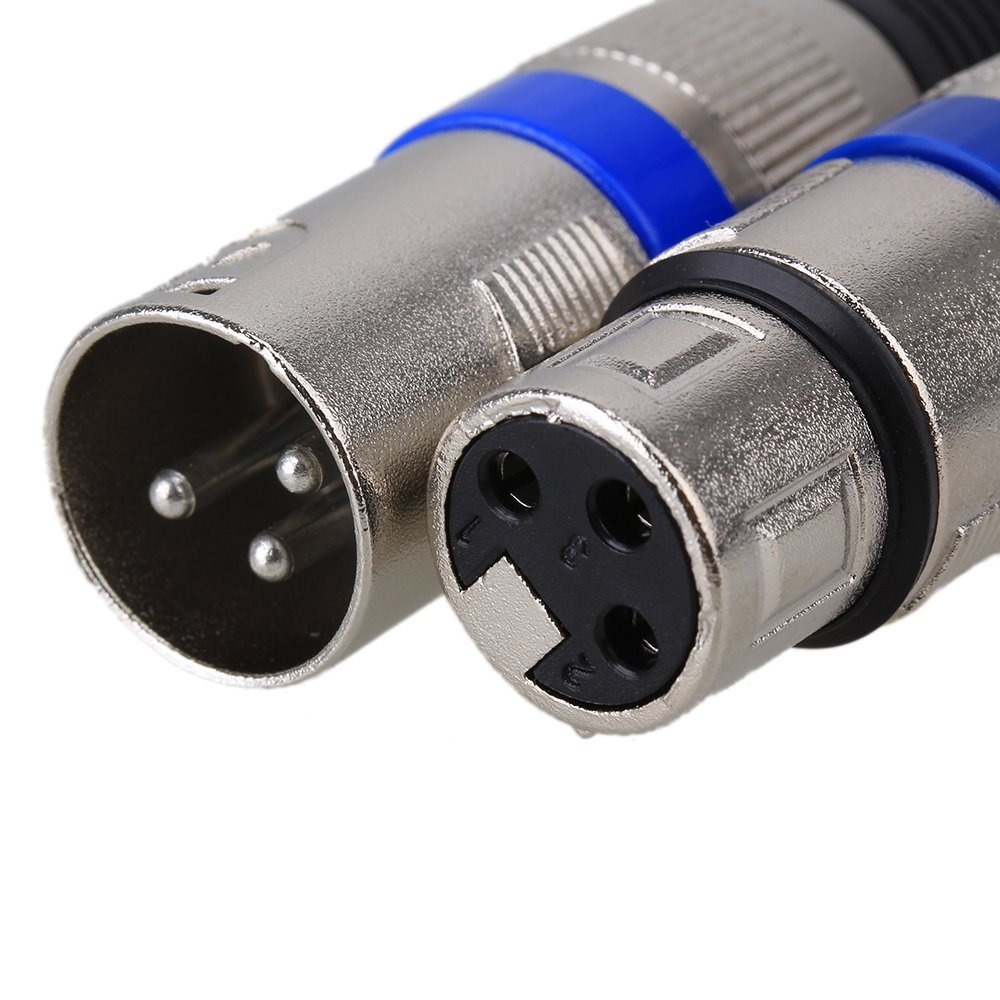 5 Pairs XLR 3Pin Stecker + Buchse Jack MIC Jack stecker Audio Kabel ...