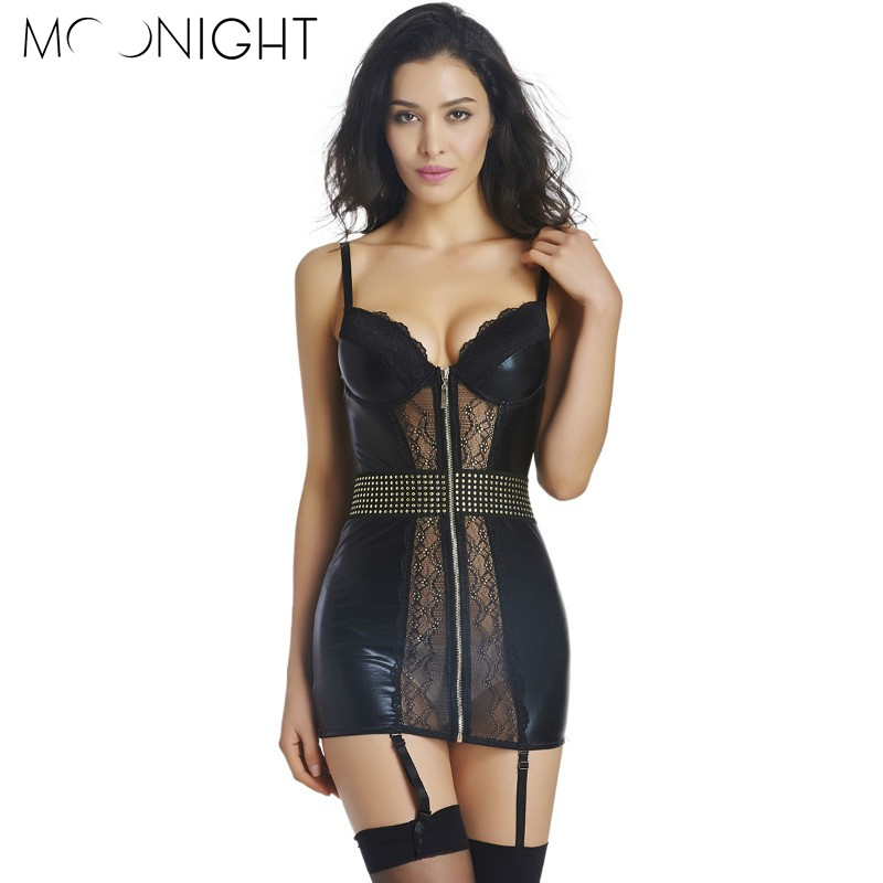 MOONIGHT Womens Sexy Lingerie Babydolls Lace Lingweie Dress Underwear Nightwear Erotic Sleepwear Camisole pajama