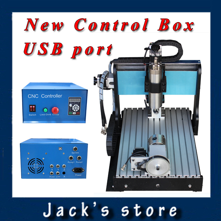 USB port !!! 3040Z-S++ (4-axis), CNC 3040 800WSpindle+1.5kw VFD CNC Router water-cooling+4axis Metal engraving machine CNC3040 usb port 3020z s cnc3020 800w spindle 1 5kw vfd cnc router water cooling metal engraving machiney cnc machine cnc 3020