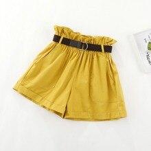 дешево!  2019 короткие женские штаны Cortos Mujer женские повседневные эластичные талии летние шорты трикотаж