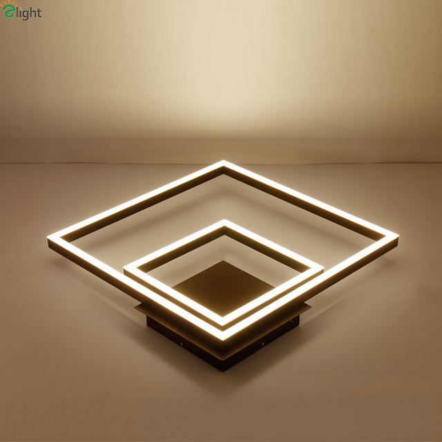 Modern metal square dimmable led ceiling lights lustre acrylic modern metal square dimmable led ceiling lights lustre acrylic bedroom led ceiling light dining room led aloadofball