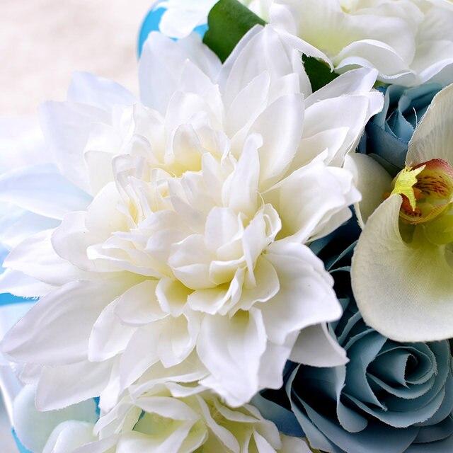 Online Shop 2018 Light Blue Bridal Bouquets Wedding Bouquets For ...