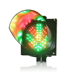 Estación de peaje impermeable de alta calidad carcasa de PC 200mm Cruz Roja flecha verde LED señal de tráfico